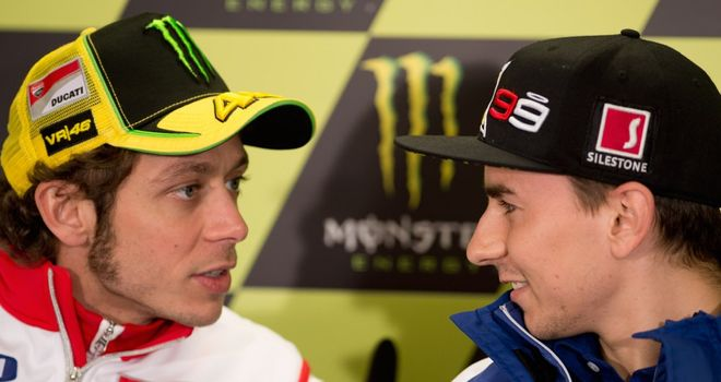 Valentino Rossi (L): Will partner Jorge Lorenzo again at Yamaha
