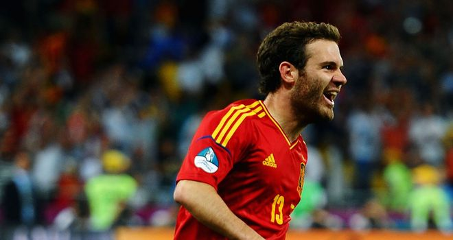 Juan Mata: Celebrates his goal in the Euro 2012 final against Italy