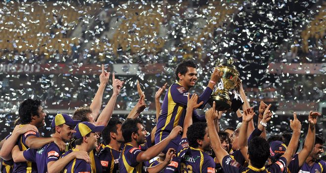 Kolkata Knight Riders celebrate IPL title