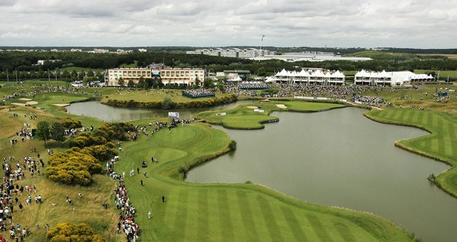 Water is a big feature of the closing holes at Le Golf National
