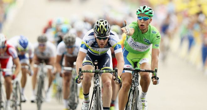 Matthew Goss (C): Was adjudged to have blocked Peter Sagan