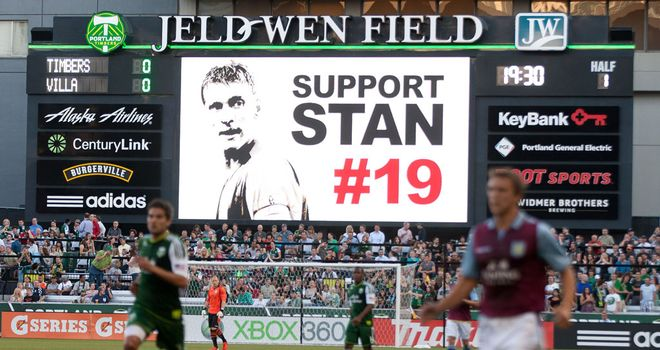 Villa fans show their support for Stiliyan Petrov on US Tour last summer