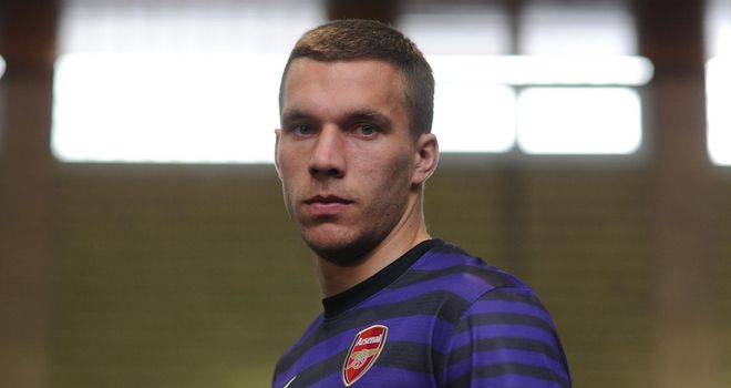 Lukas Podolski: The forward was competing with Germany at Euro 2012