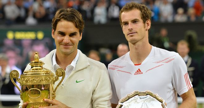 Denied again: Roger Federer and Andy Murray after the Wimbledon final