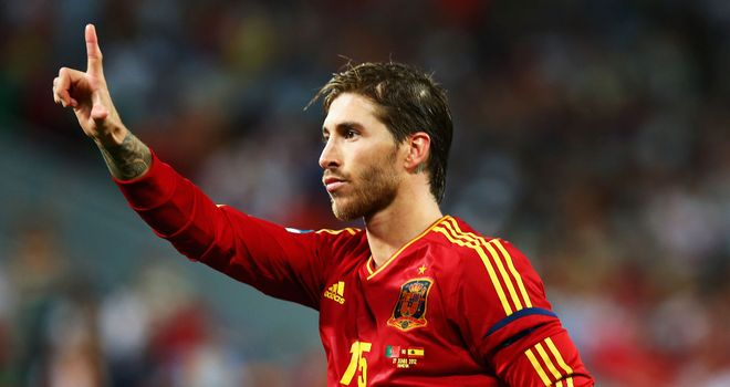 Sergio Ramos: Poised to win 100th cap for his country at age of 26