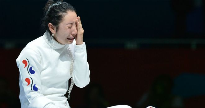 Shin A Lam: Was in tears after being denied a place in the final of the women's epee