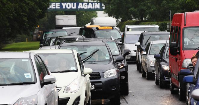 Friday at Silverstone was marred by traffic chaos