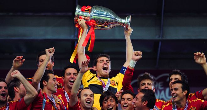 Iker Casillas: Got his hands on another piece of silverware as Spain won Euro 2012
