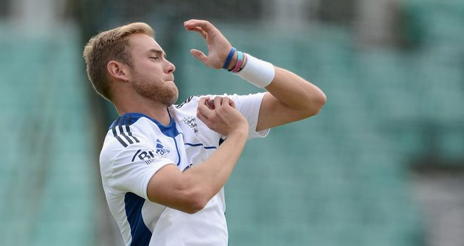 Broad: one of England's seam-bowling stars