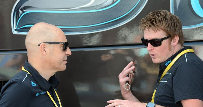 Dave Brailsford (left): Full of praise for his team after a hugely significant performace