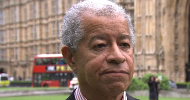 Lord Ouseley: Says the chanting at the San Marino game was unacceptable.