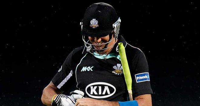 Kevin Pietersen: Out first ball in first Surrey start