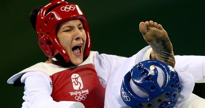 Sarah Stevenson: Became Britain's first Olympic taekwondo medallist when she won bronze at the 2008 Beijing Games