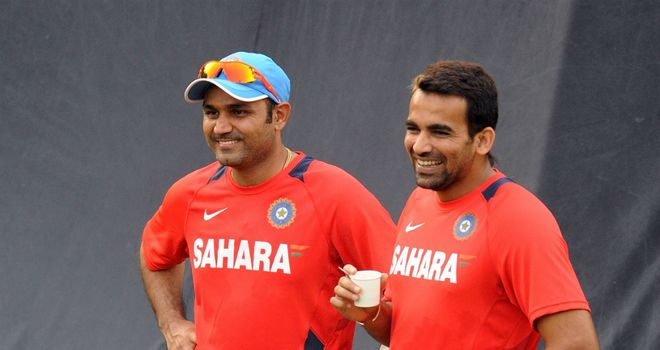 Virender Sehwag (left) and Zaheer Khan: experienced duo return for India's tour to Sri Lanka