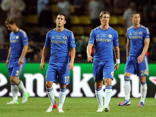 Dejection for Chelsea against Atletico Madrid