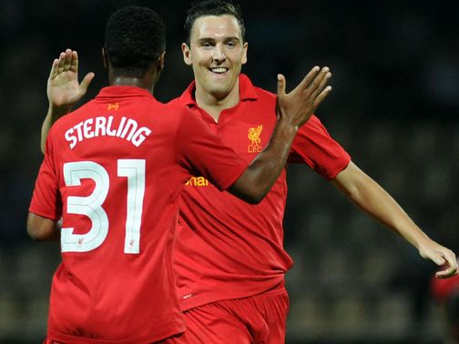 Downing: Could be linking up with Sterling on Liverpool's left side.