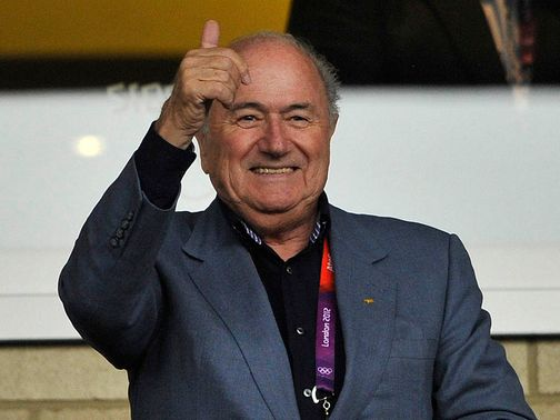 Sepp Blatter: Visited St George's Park on Wednesday
