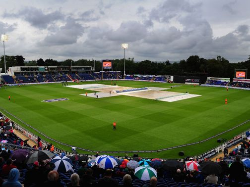 Just 5.3 overs were bowled at Cardiff