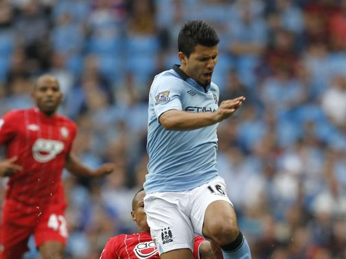 Aguero: Scored against Fulham