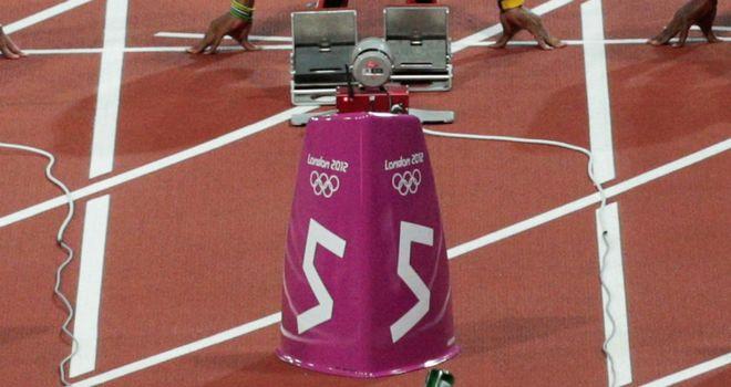 Bottle: Thrown at start of 100m