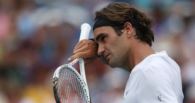 Roger Federer: through to the last four in Cincinnati after straight sets victory