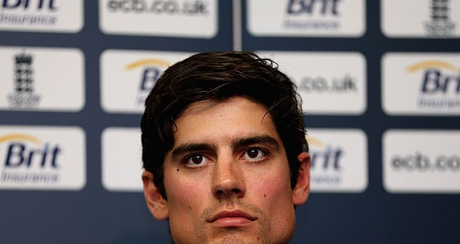Alastair Cook: succeeding Andrew Strauss as England Test skipper