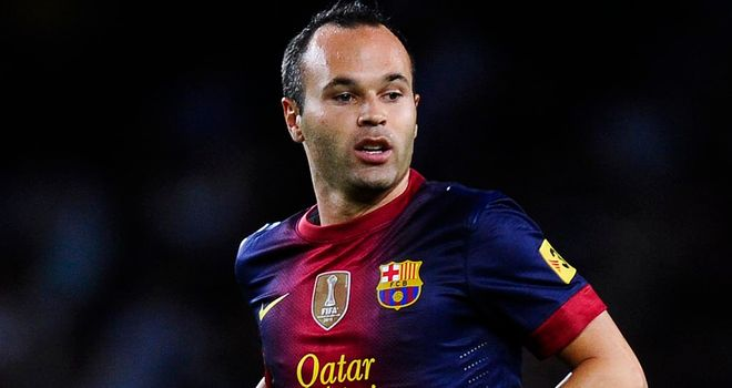 Andres Iniesta: Back for Barcelona for the trip to Benfica