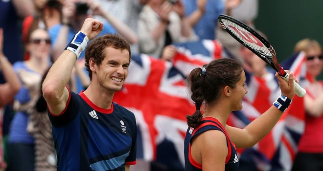 Andy Murray and Laura Robson: guaranteed a silver on Sunday
