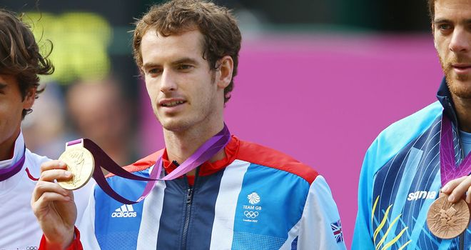 Andy Murray: Won Olympic gold last month...