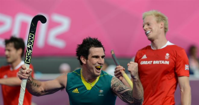 Bronze medallist: Kieran Govers celebrates after scoring for Australia