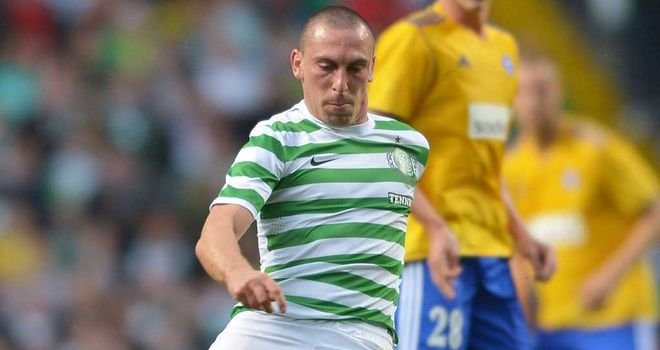 Scott Brown: The midfielder will face a late fitness test ahead of their Champions League third qualifier against HJK Helsinki on Wednesday