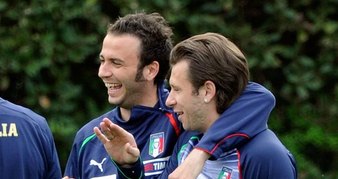Giampaolo Pazzini & Antonio Cassano: Involved in swap deal between Inter and AC Milan