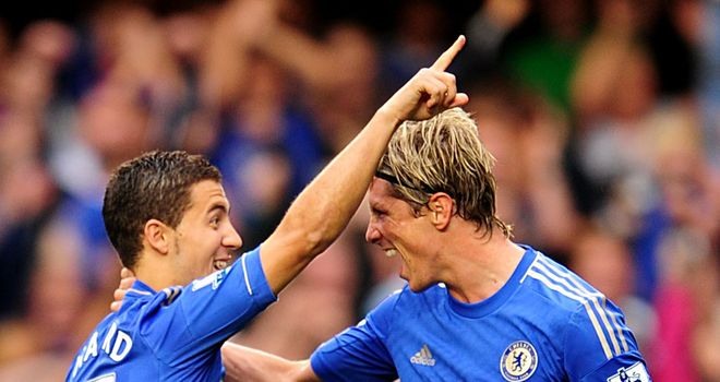 Fernando Torres: Is enjoying the partnership with Chelsea newcomer Eden Hazard