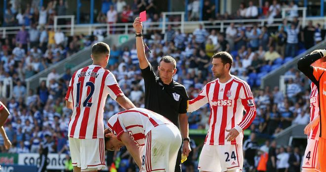 Dean Whitehead: Was sent-off near the end after catching Garath McCleary in the box