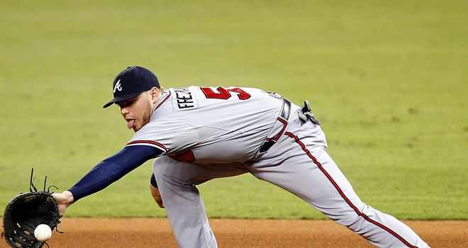 Freddie Freeman: Smacked a two-run shot off Mike Dunn to turn the game around in the ninth