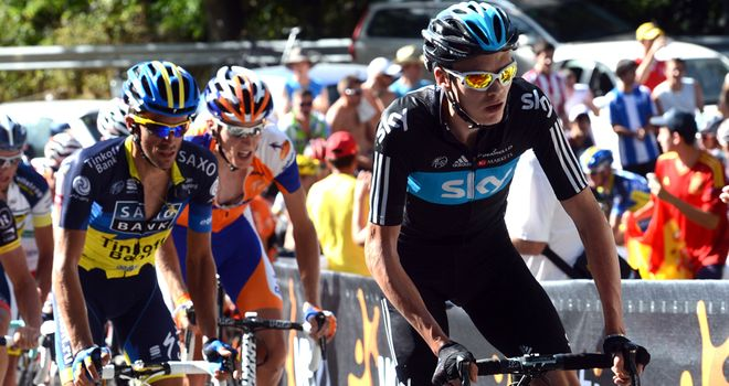 Froome and Contador mark each other closely