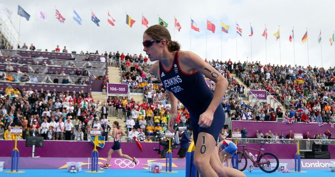 Helen Jenkins: The triathlete could only finish fifth on 'Super Saturday'
