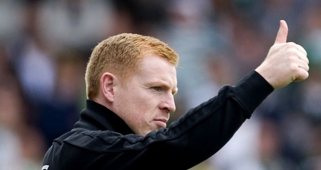 Neil Lennon: Gave a big thumps up to his Celtic side after their historic win at Spartak Moscow