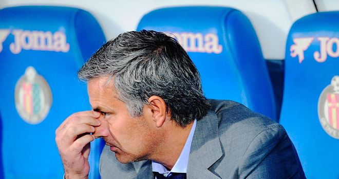 Unhappy: Mourinho was disappointed with Getafe defeat