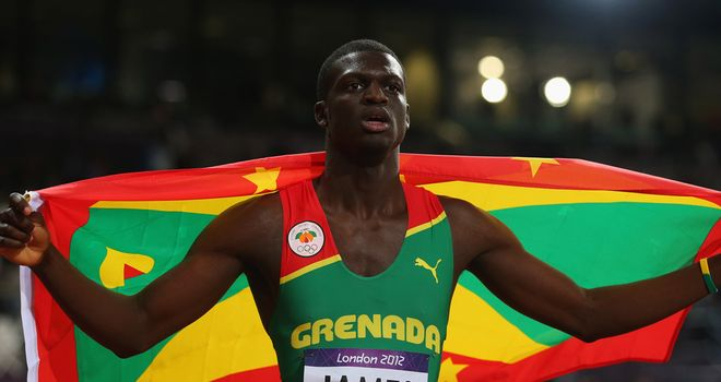 Kirani James: Celebrates his triumph