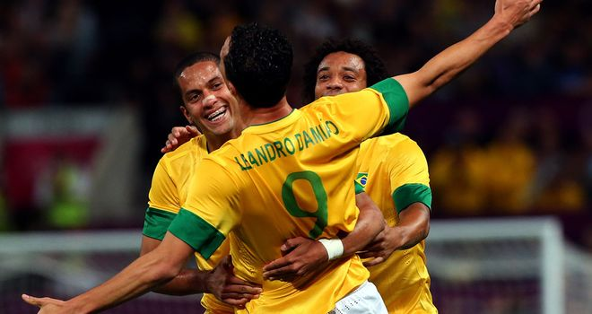 Leandro Damiao: Scored twice as Brazil booked place in Olympic final
