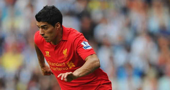 Luis Suarez: The Uruguayan's stunning free-kick gave Liverpool a 2-1 lead