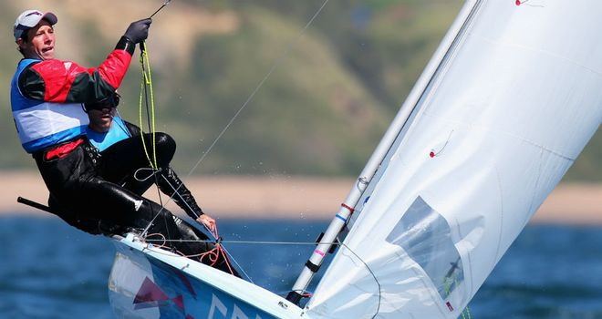 Luke Patience and Stuart Bithell: Took the silver medal in the 470 class in Weymouth
