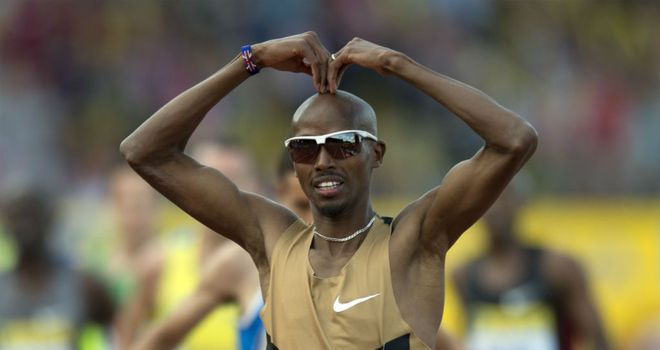 Mo Farah: celebrated the birth of twin girls on Friday