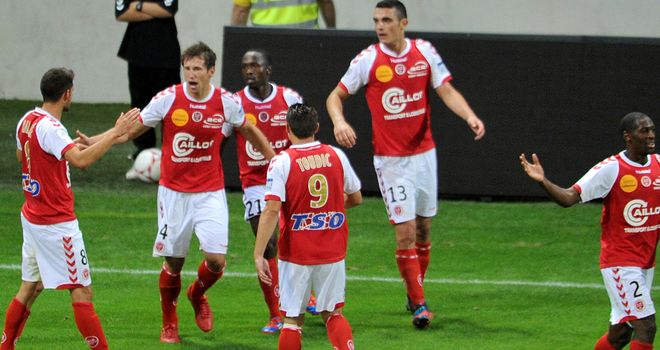 Reims celebrate their winner