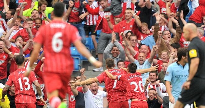 Southampton pushed Man City all the way at the Etihad Stadium
