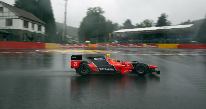 Rio Haryanto: On pole at Spa (Image: GP2 Series Media)
