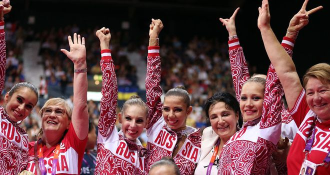 Russia celebrate their golden triumph