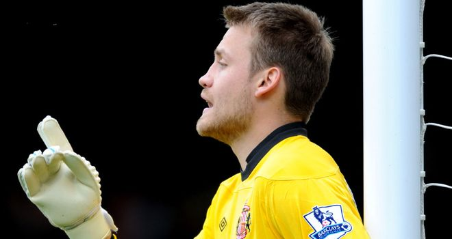 Simon Mignolet: Martin O'Neill claims Sunderland goalkeeper is on par with Joe Hart