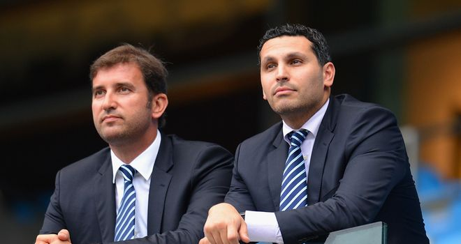 Ferran Soriano (l): No plans to sign either Radamel Falcao or Neymar